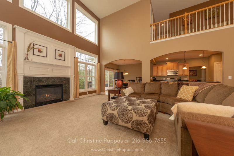 Mountainside Farms Concord OH Real Estate Properties for Sale - Get cozy and comfy in the spacious family room of this beautiful home for sale in Concord OH.