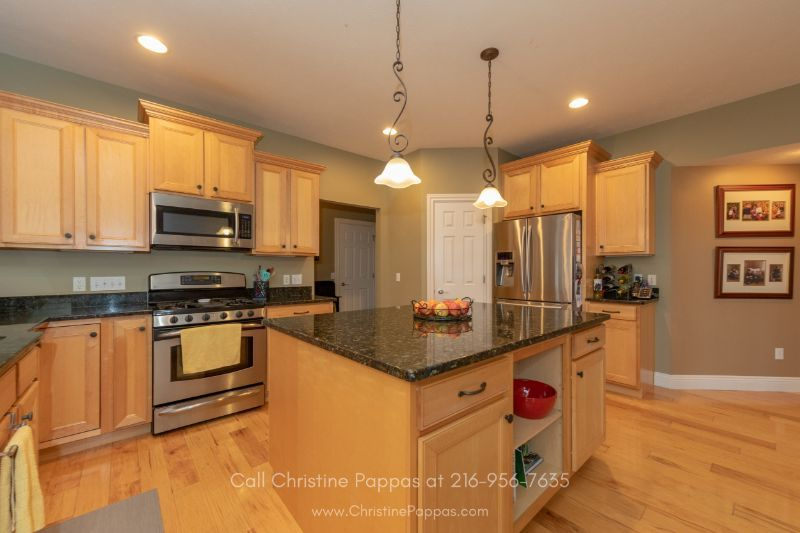 Homes for Sale in Concord OH -  The impressive kitchen of this home for sale in Concord will surely make any chef happy!