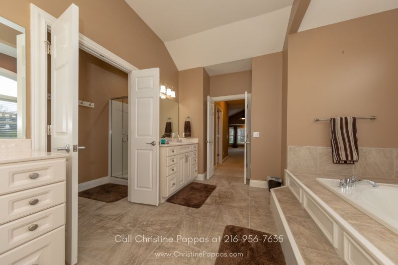 Homes in Concord OH -No expenses were spared in the master bathroom of this home for sale in Concord OH.