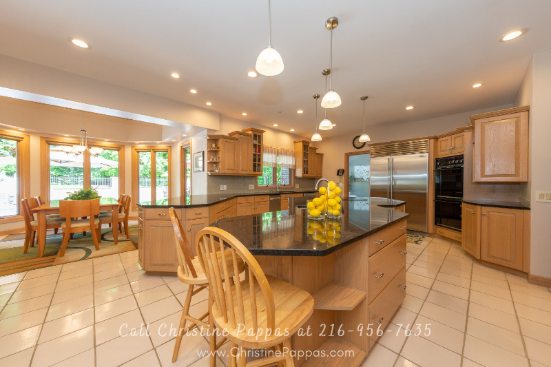 Concord Township OH Real Estate - Create mouthwatering meals in the bright kitchen of this Concord Township luxury home.