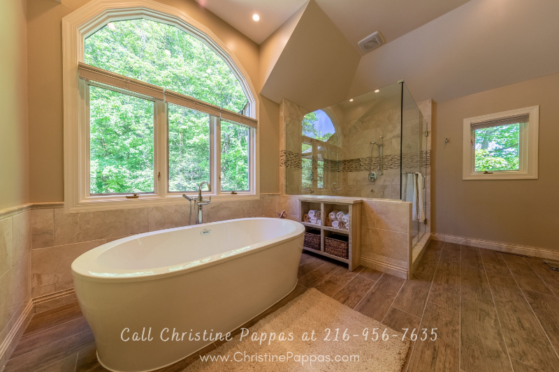Real Estate in Concord Township OH - Enjoy ultimate pampering in the huge master bathroom of this luxury home for sale in Concord Township OH.