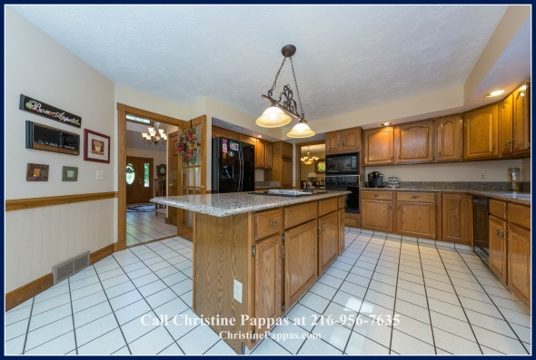 An expansive upgraded kitchen awaits the new owner of this gorgeour recently sold home in Kirtland OH.