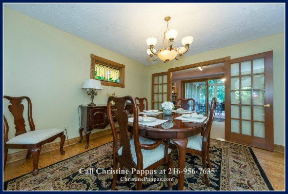 Dine like a royalty in exquisite dining room of this Kirtland OH home for sale. No wonder it sold fast!