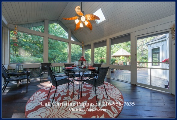 A stunning sunroom is definitely a welcomed feature in a Kirtland OH home when you have a picturesque view surrounding it!