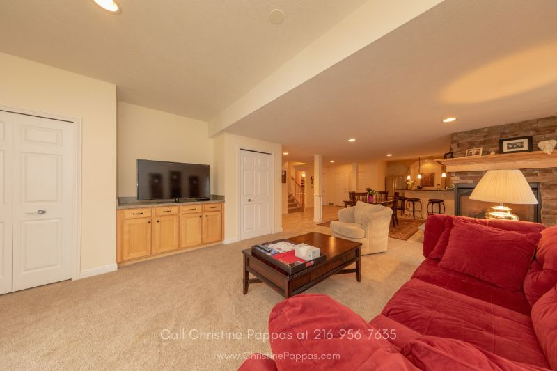 Real Estate Properties for Sale in Concord OH - The large walk-out basement of this Concord home is perfect as an in-law suite.
