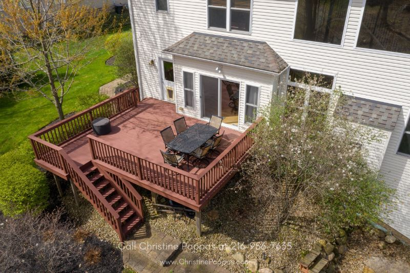 Concord OH  Real Estate Properties for Sale - Enjoy outdoor fun and entertainment on the large deck of this Concord home.