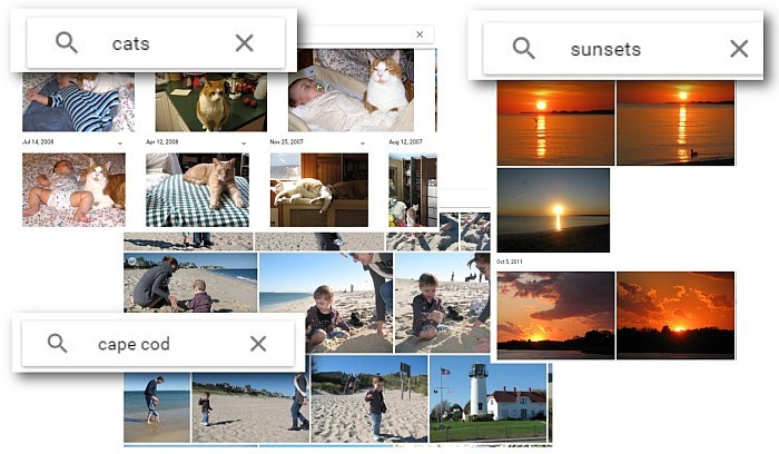google photos search places or things