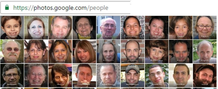 google photos people search