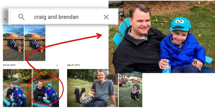 google photos search two people together