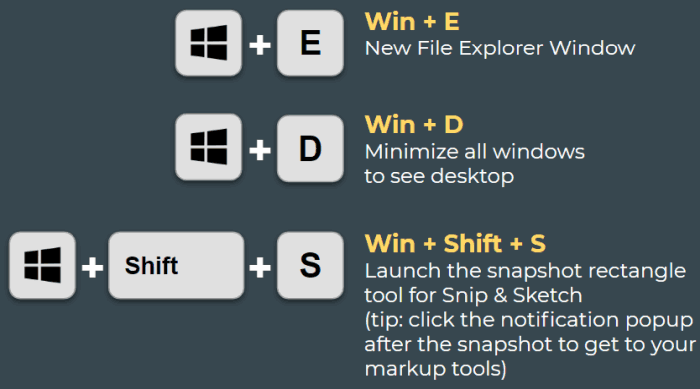 windows key shortcuts