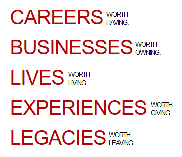 Careers worth having