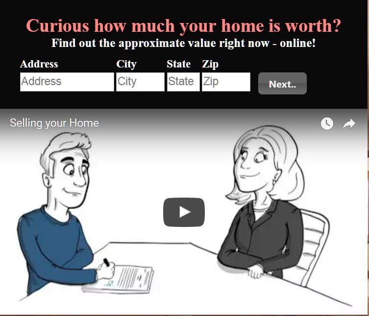 home valuation Screen