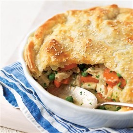 Chicken Pot Pie. Save this for when the family is around. There's nothing like a steaming hot pot pie!