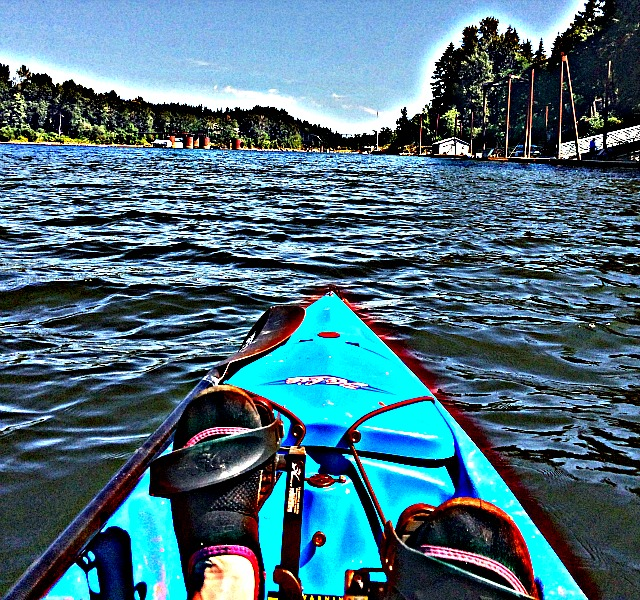 Kayaking on the Willamette River In my Hobiecat