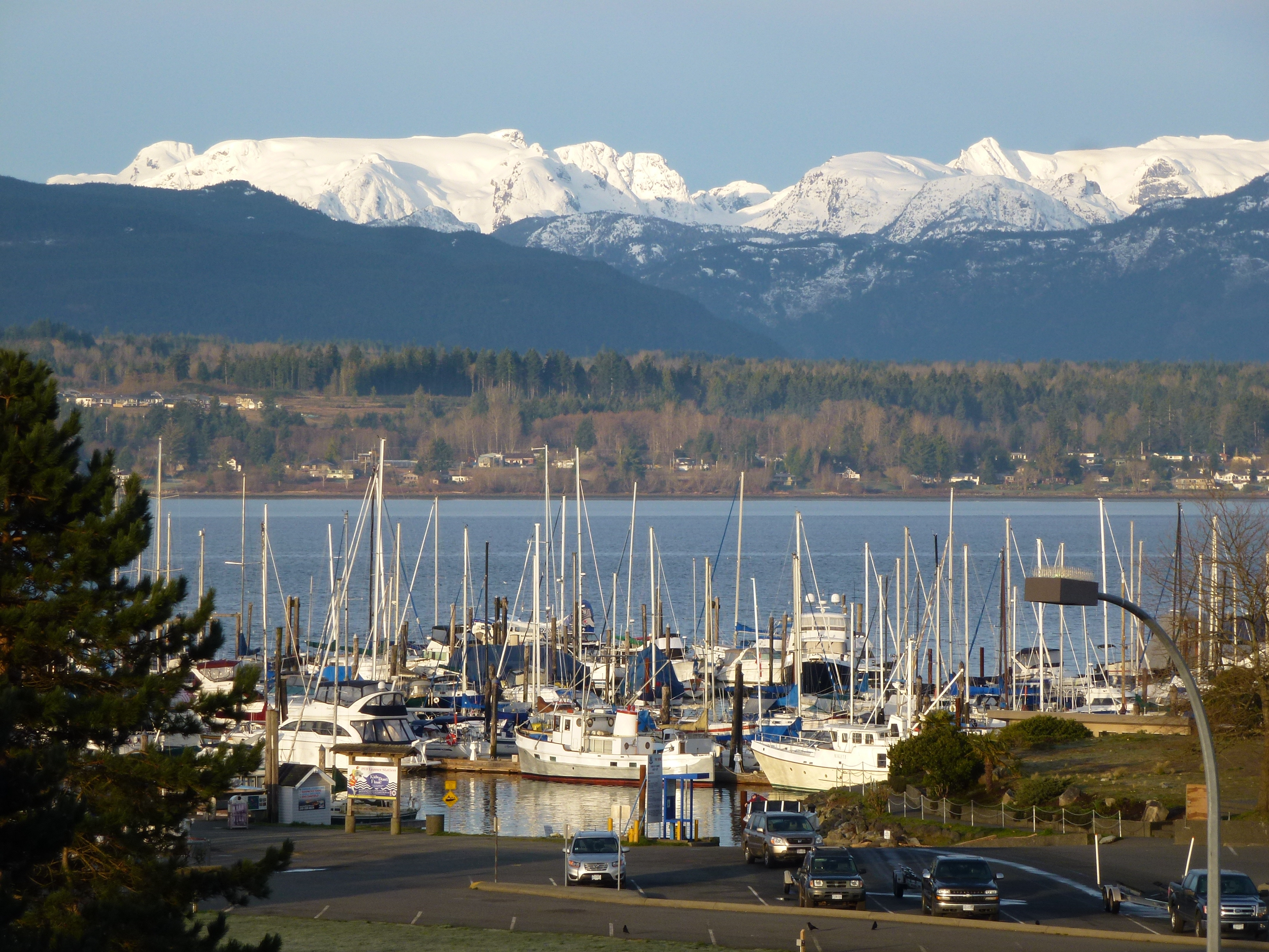 Glacier as seen from the Comox Harbour
