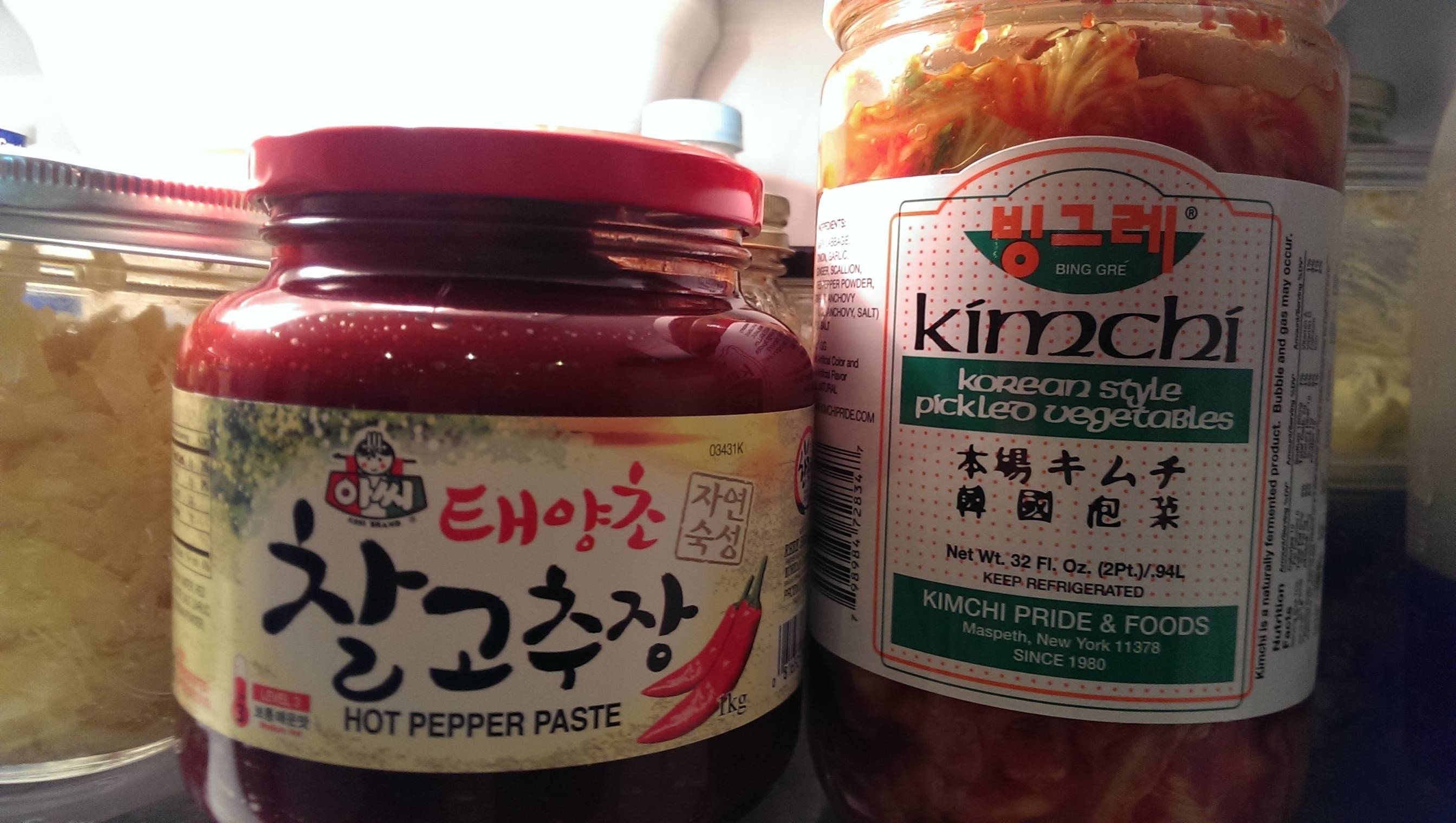 Korean red pepper paste & Kimchi