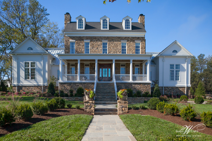 A Witherspoon custom home designed as an early Federal home.