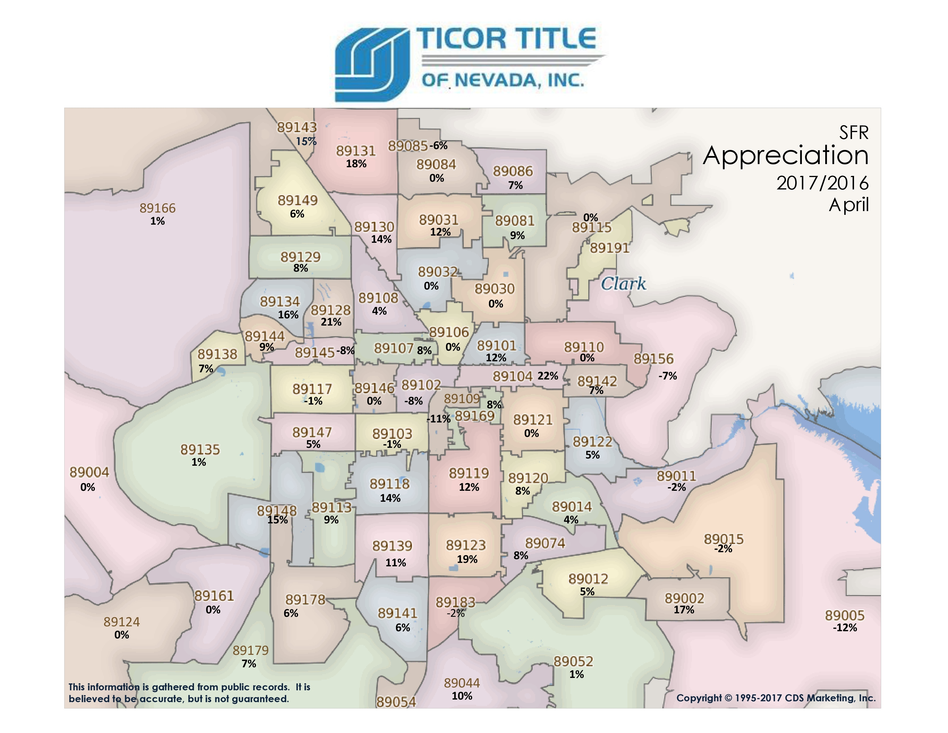 las vegas home prices appreciation map april  by zip code. las vegas home prices appreciation map april  by zi
