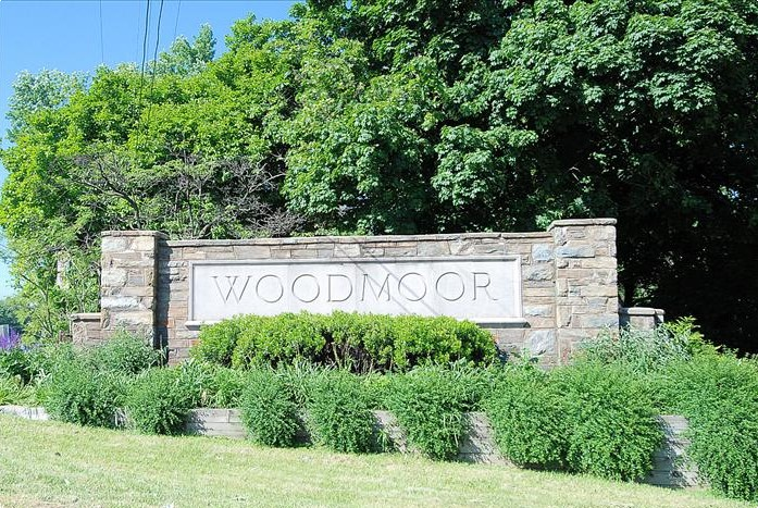 Old Woodmoor sign on Colesville Road Rt 29 Silver Spring