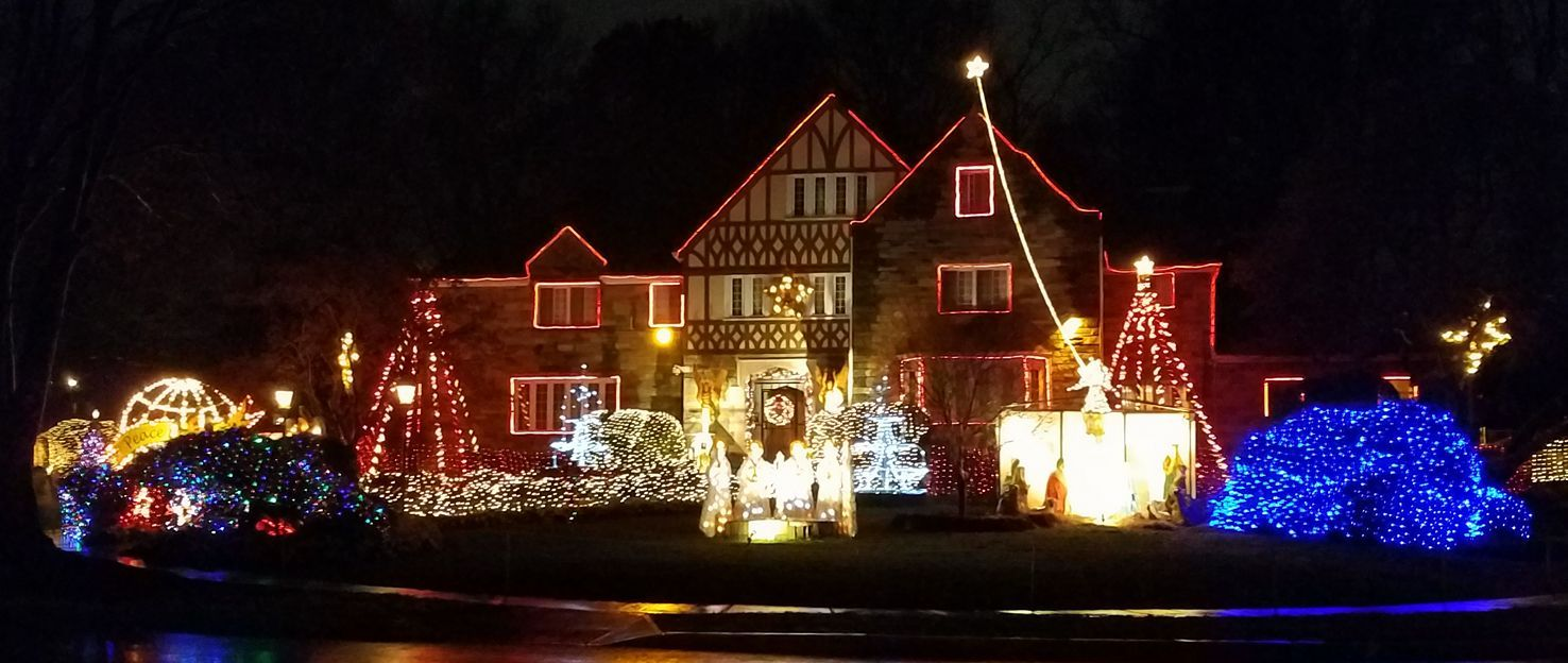 the grandaddy of house christmas lights are on dc silver spring md border - Dc Christmas Lights