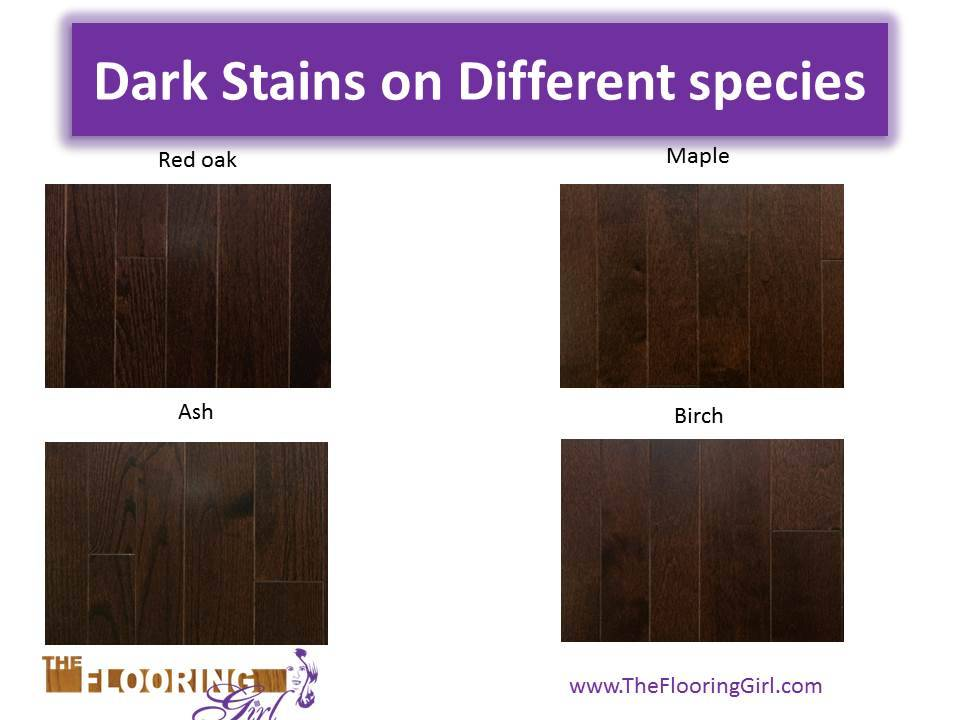 Different Woods Absorb Stains Differently