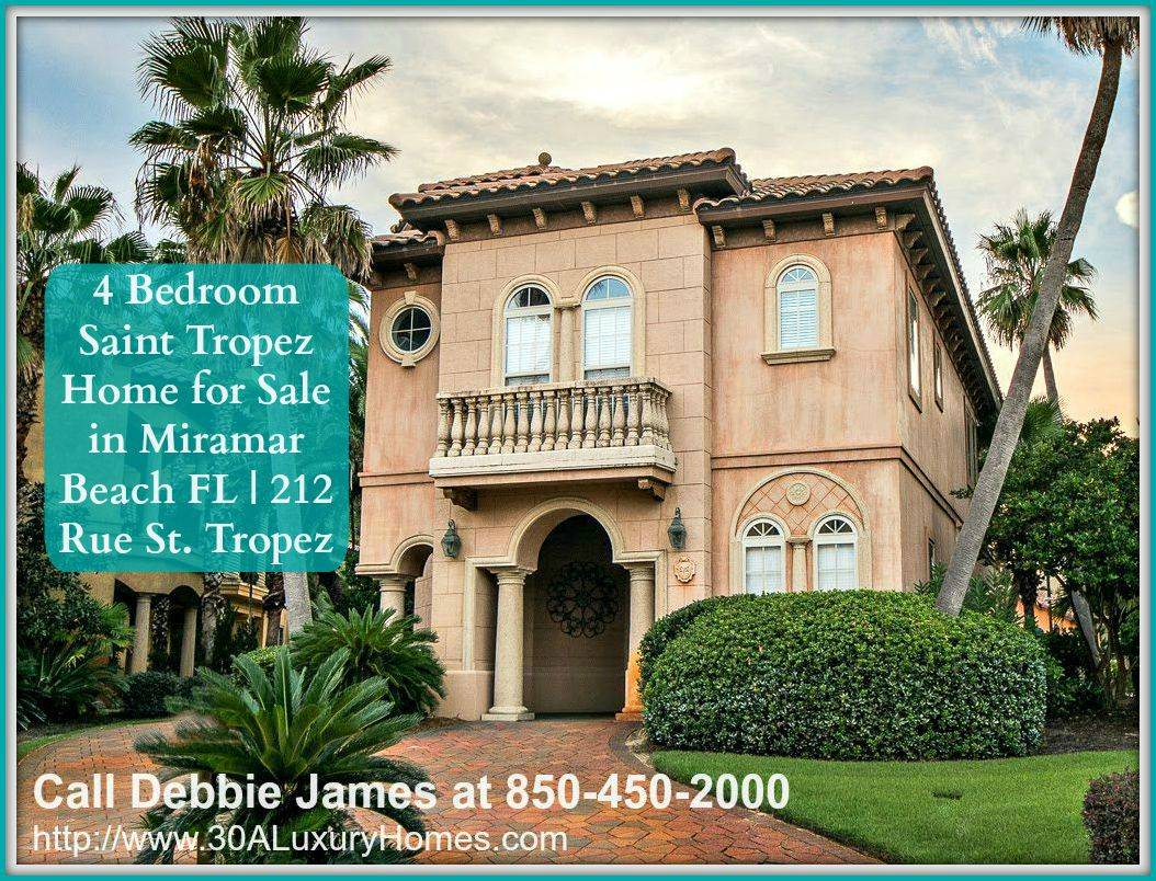 Enjoy the feel of Mediterranean living and own this magnificent 4 bedroom Miramar Beach FL home for sale!