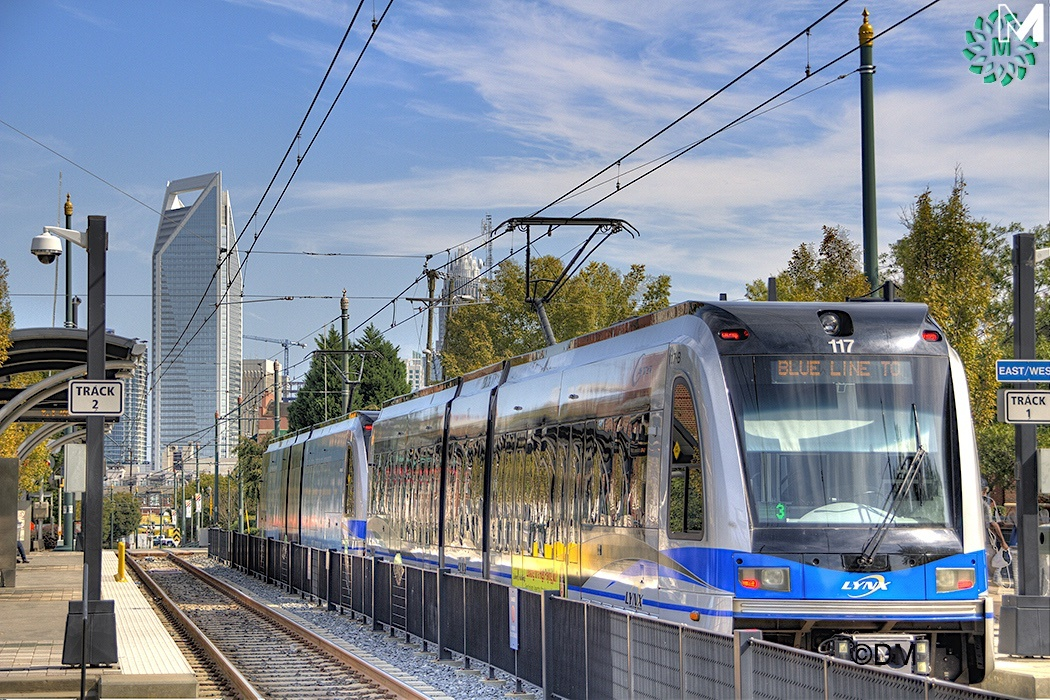 Take the LYNX Blue Line to town from Pineville
