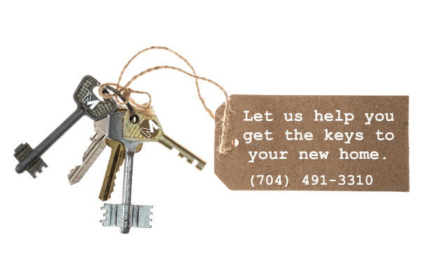 Let us help you get your keys to your new Charlotte home