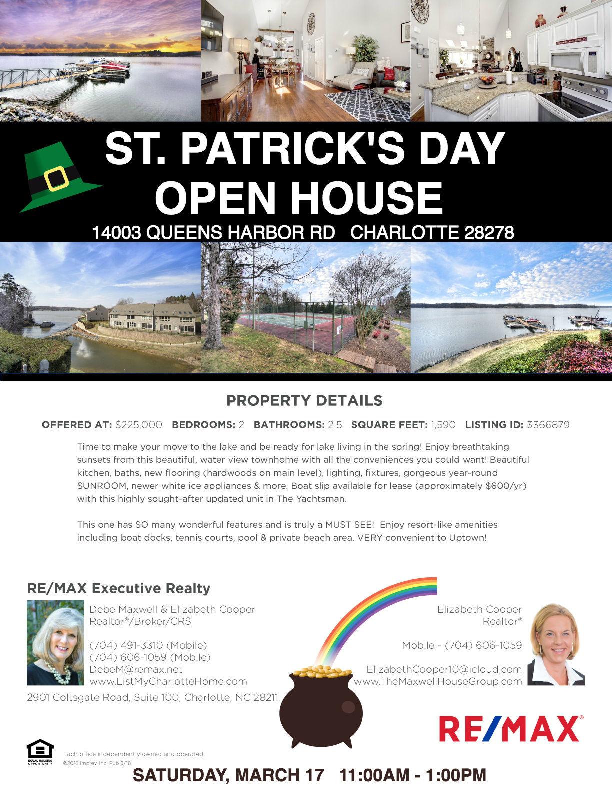 Lake Wylie Open House SATURDAY 3/17 11-1