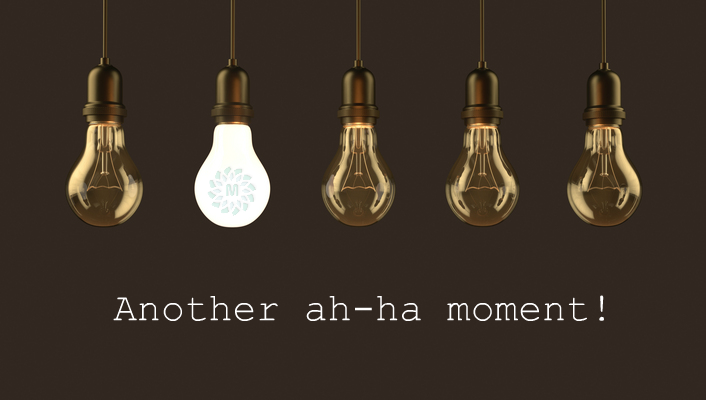 Another light bulb moment