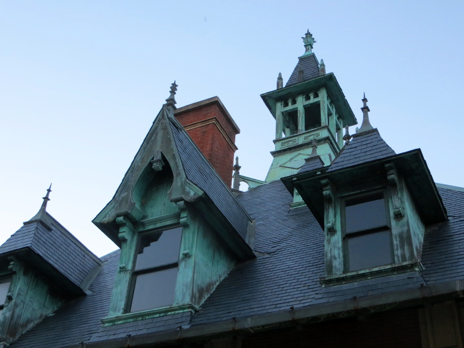 Dormers and Terra cotta ornaments on Custom House Museum