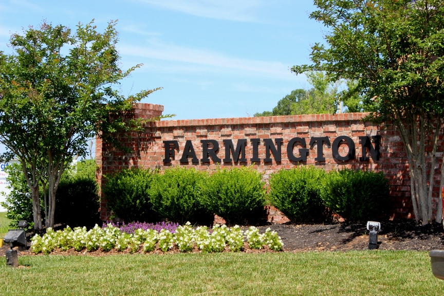Farmington Subdivision Entrance Sign