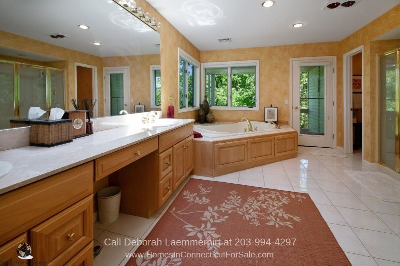 Homes in New Fairfield CT - Enjoy luxurious baths in this New Fairfield property for sale.