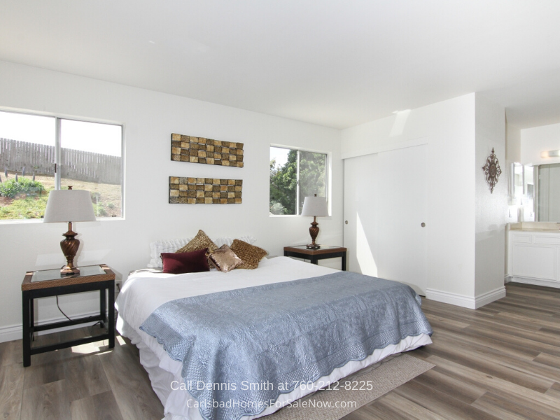 Homes for Sale in Carlsbad CA -  Enjoy peace of mind and the best of rest in the generously-spaced master bedroom of this home in Carlsbad CA.