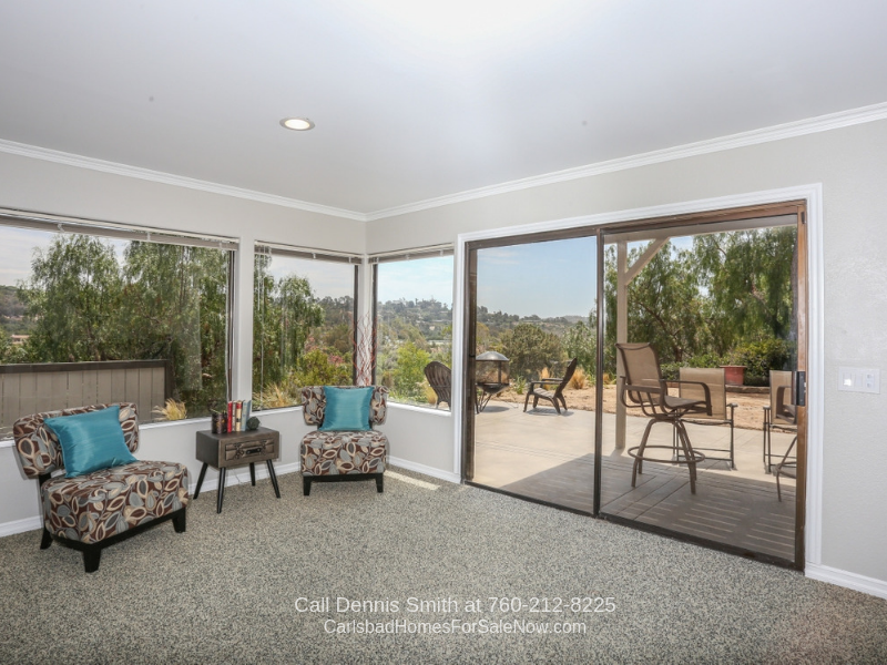 Encinitas CA Real Estate Properties for Sale - You'll love the warmth and inviting appeal of the spacious living room of this luxury home for sale in Encinitas CA.