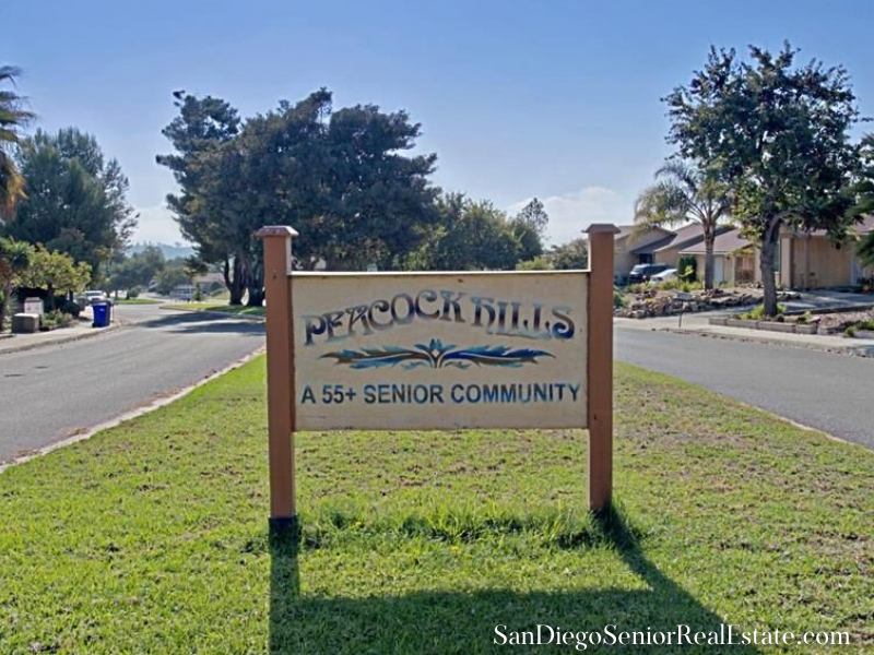 Peacock Hills 55+ Homes for Sale in Oceanside CA - Enjoy the convenient location, proximity to amenities, and the serene surroundings of Peacock Hills 55+ homes for sale.