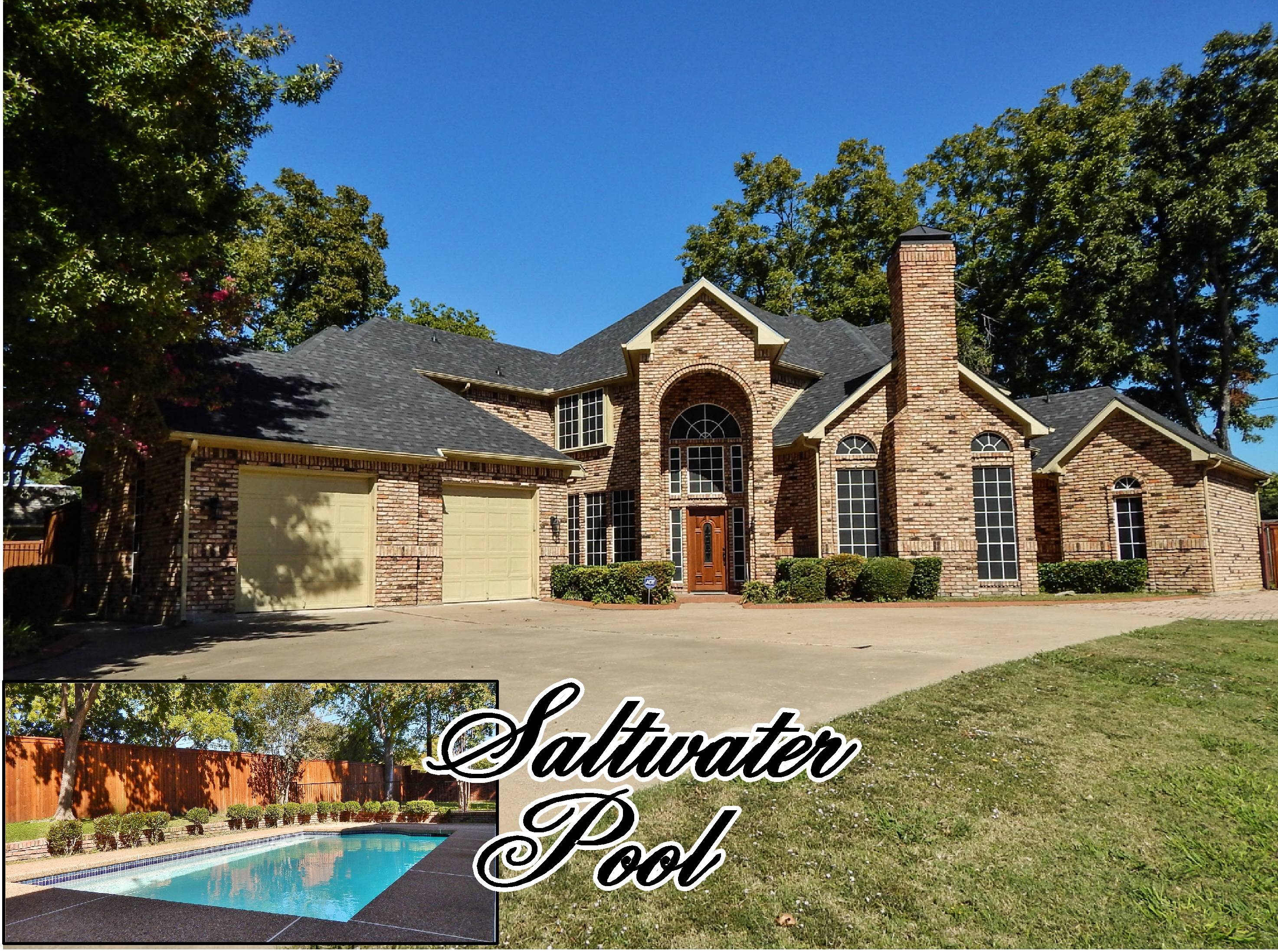 Sold Close To Lake Ray Hubbard Saltwater Pool 5 Bedrooms
