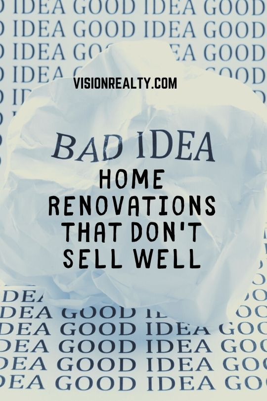 Renovations that don't sell