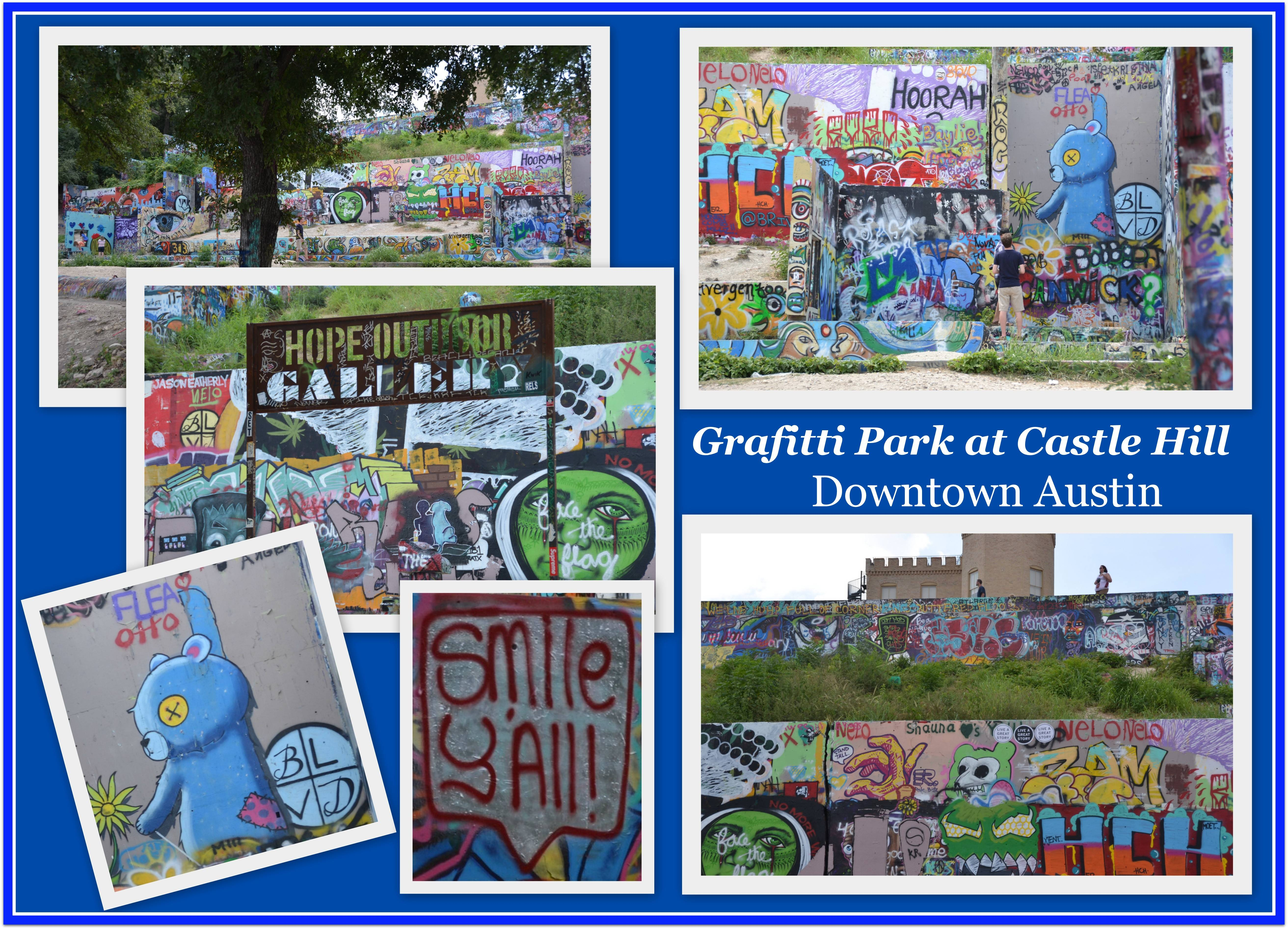 Graffiti park at castle hills or the hope outdoor galleryaustin tx