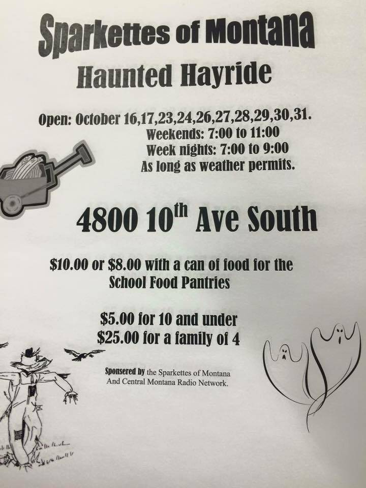 Sparkettes Haunted Hayride Haunted House