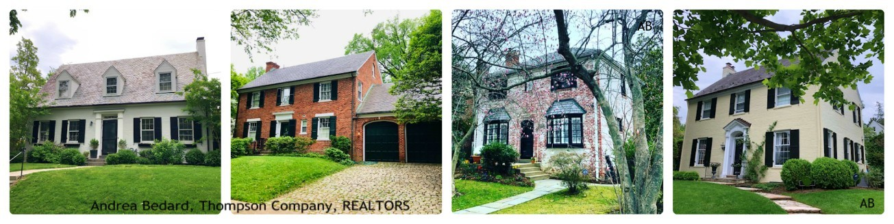 painted brick homes in the DC suburbs