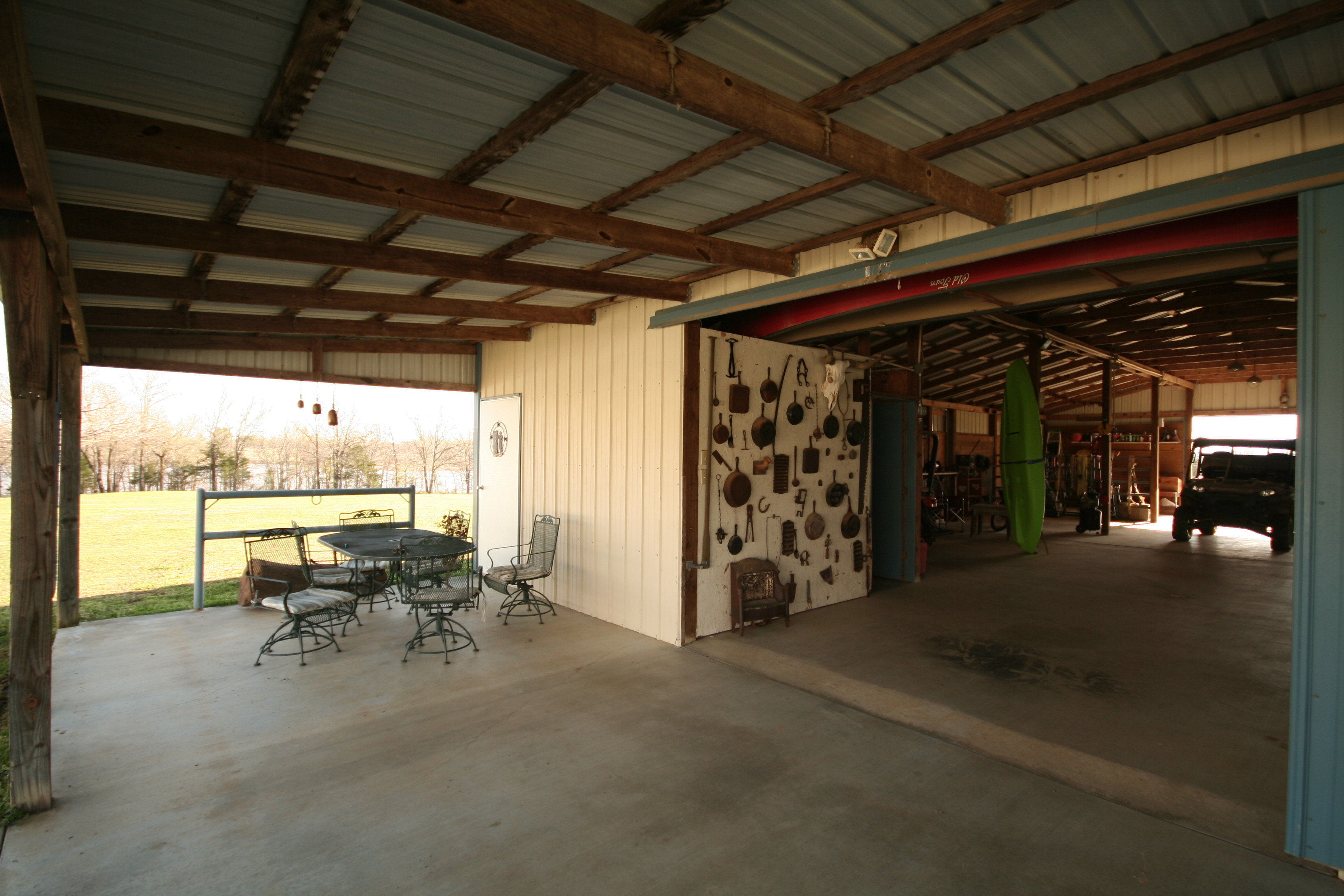 Entertain on the Covered Patio at the Barn