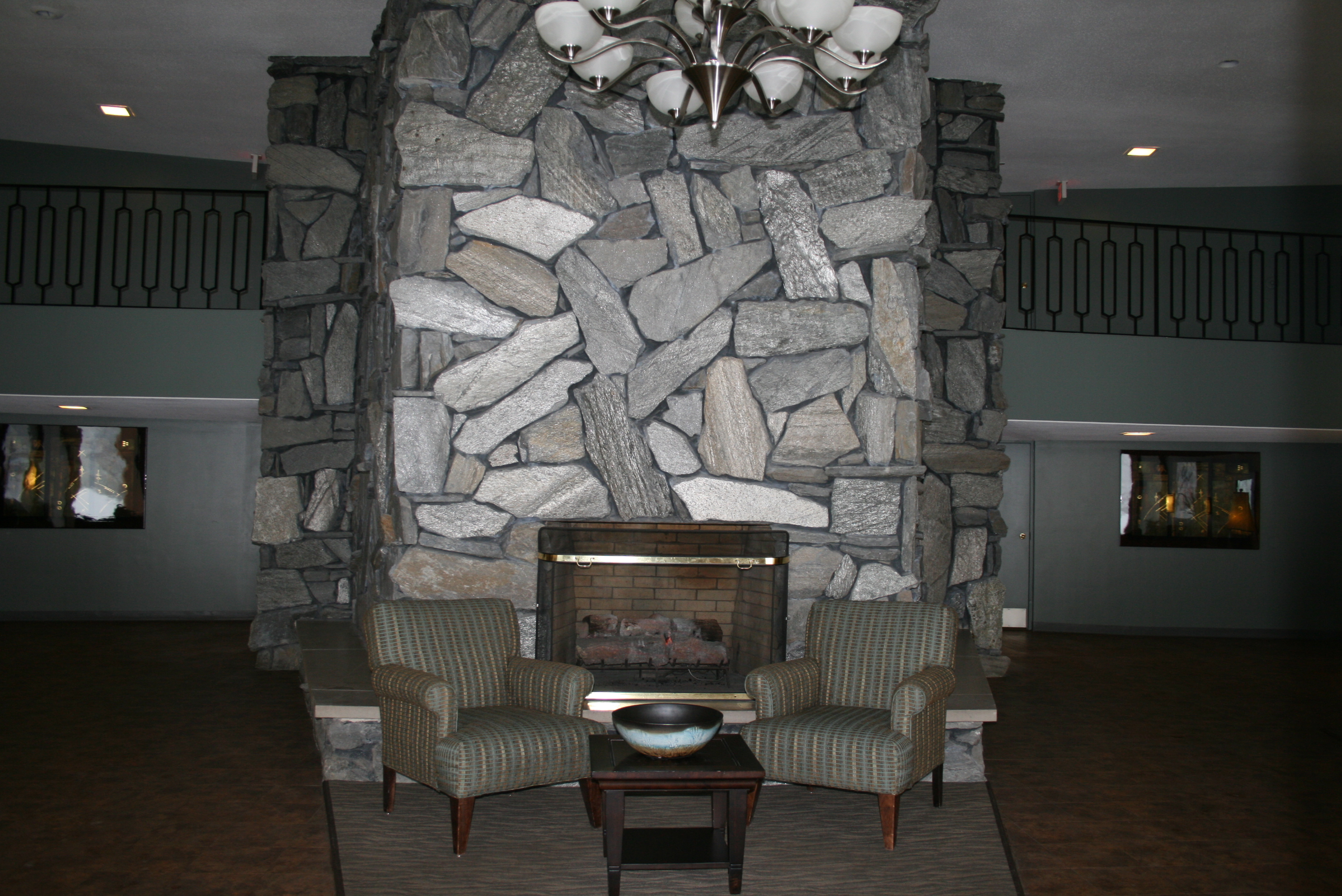 Lobby Fireplace View