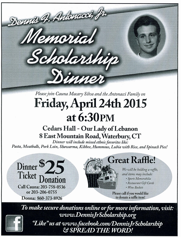 Dennis F Antonacci Jr Memorial Scholarship Fundraiser