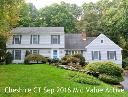 Real Estate Market Statistics for Cheshire CT for September 2016