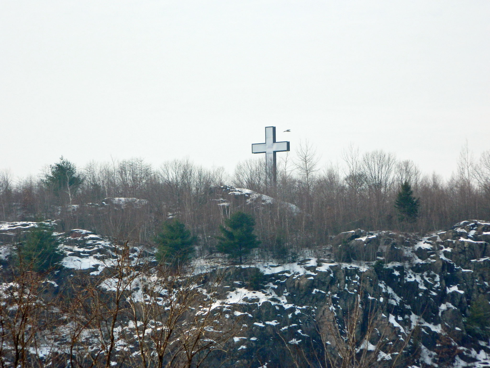 The cross atop the hill holy land in waterbury ct for The waterbury