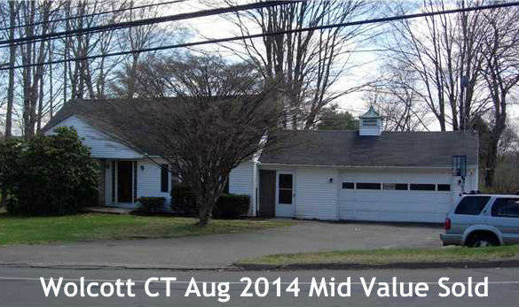 Wolcott CT Real Estate Sales Report for August 2014