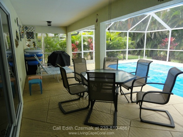 Cape Coral Pool Home for Sale -  Entertain and enjoy the company of friends on the patio of this pool home for sale in Cape Coral FL.