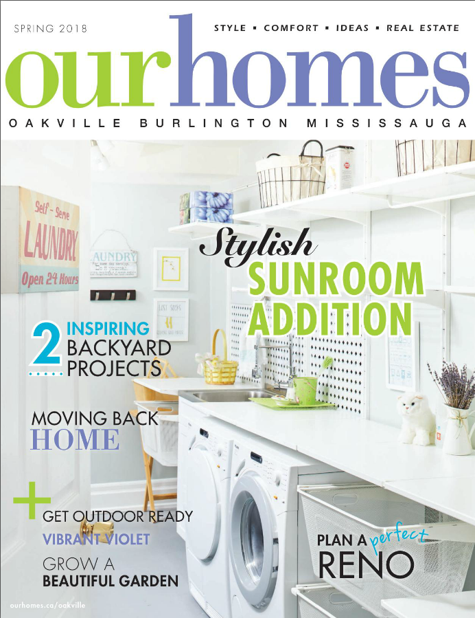 Featured in Our Homes Magazine!