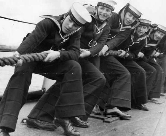 Bell bottom navy